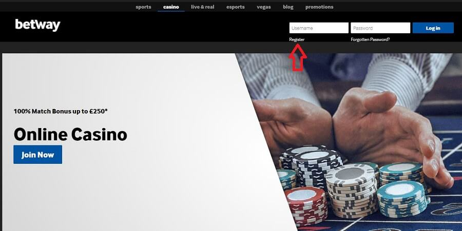 Betway Casino Registration 0