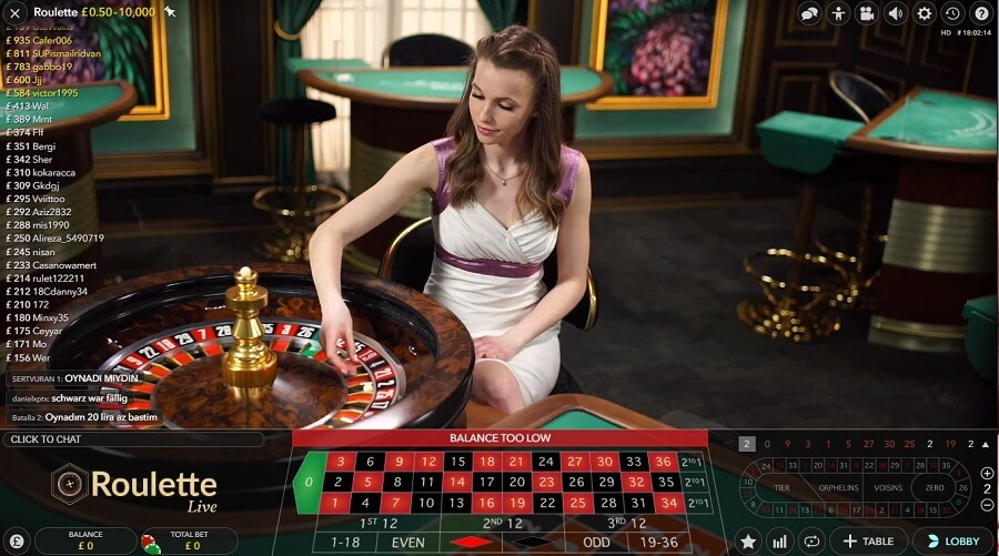 32Red Live Roulette