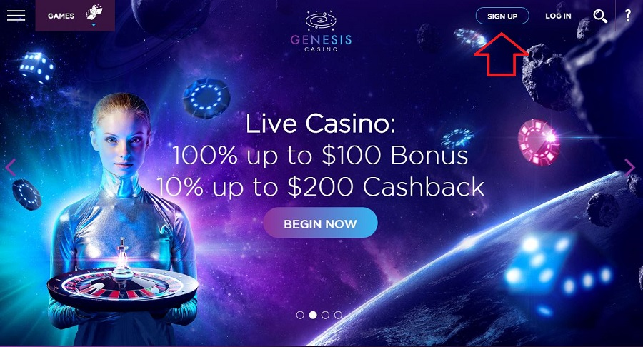 Genesis Casino Registration 1