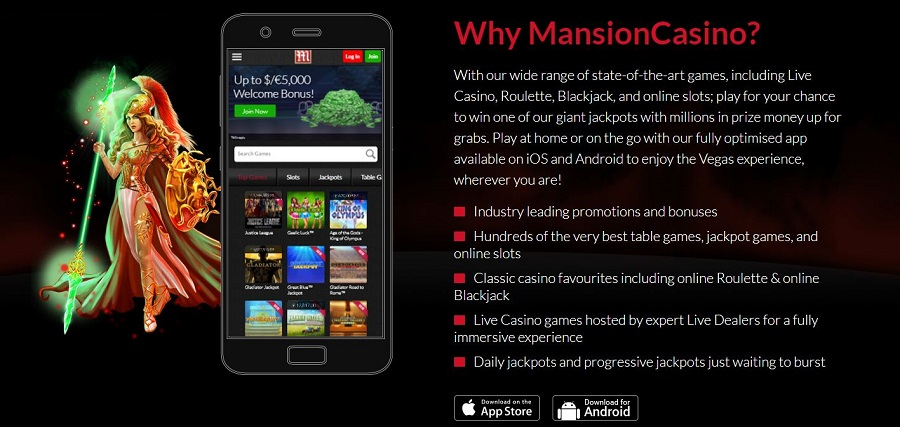 Mansion Casino Mobile