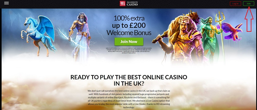 Mansion Casino Registration 1