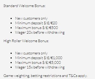 Mansion Casino Welcome Bonus