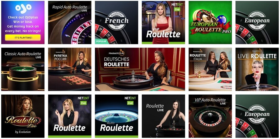 Play Ojo Roulette