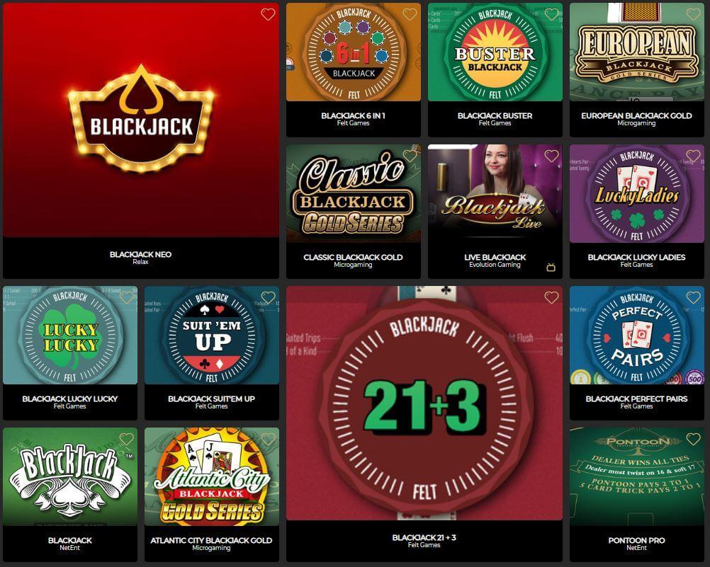 The Grand Ivy Casino Blackjack
