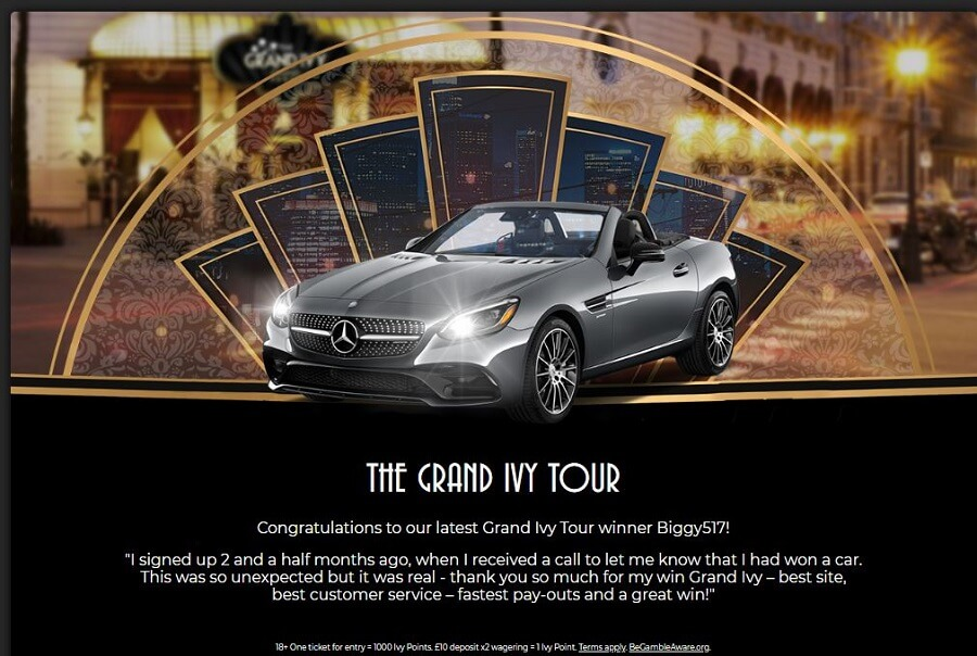 The Grand Ivy Casino Mercedes Promotion