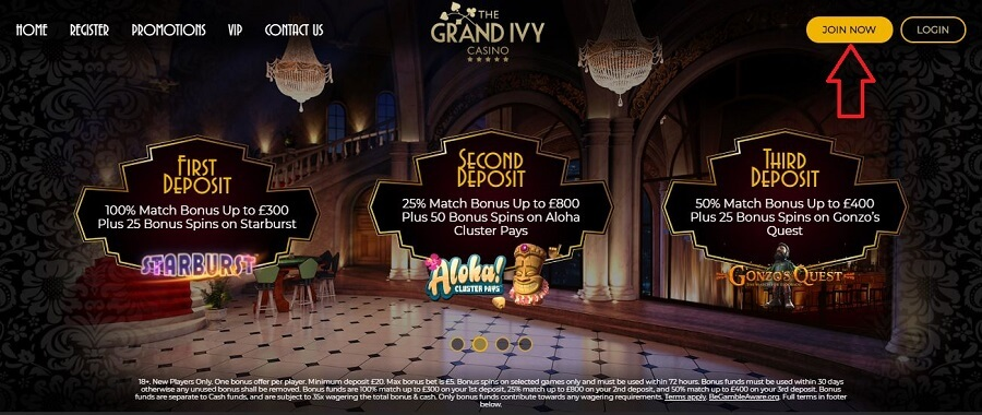 The Grand Ivy Casino Registration 1