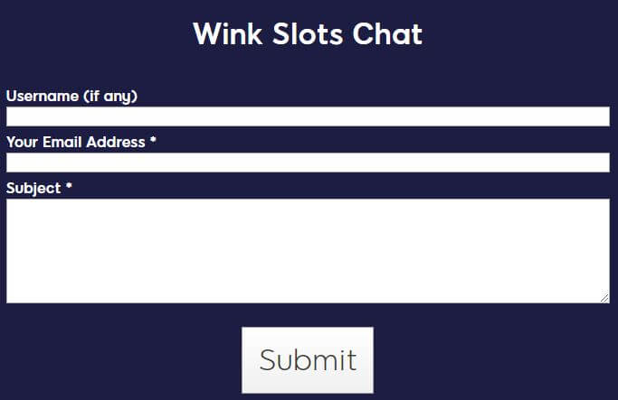 Wink Slots Chat