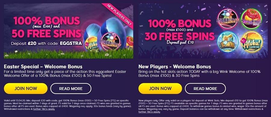 Wink Slots Seasonal Promotions