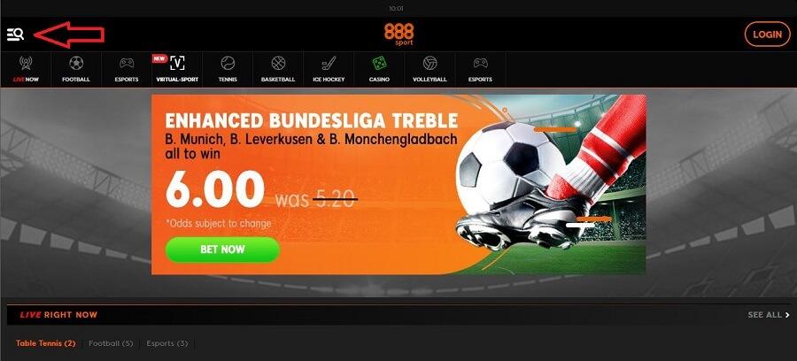 888 Sport Registration 1