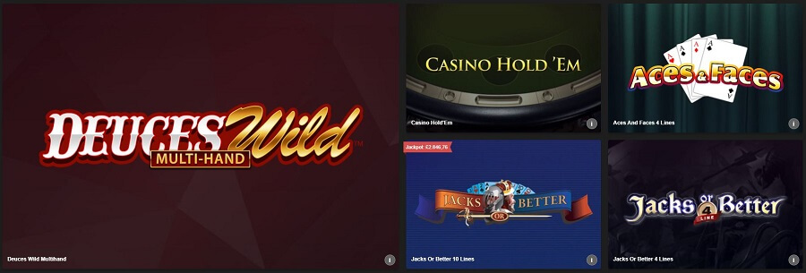 Betfair Casino Video Poker