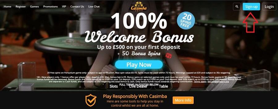 Casimba Registration 1
