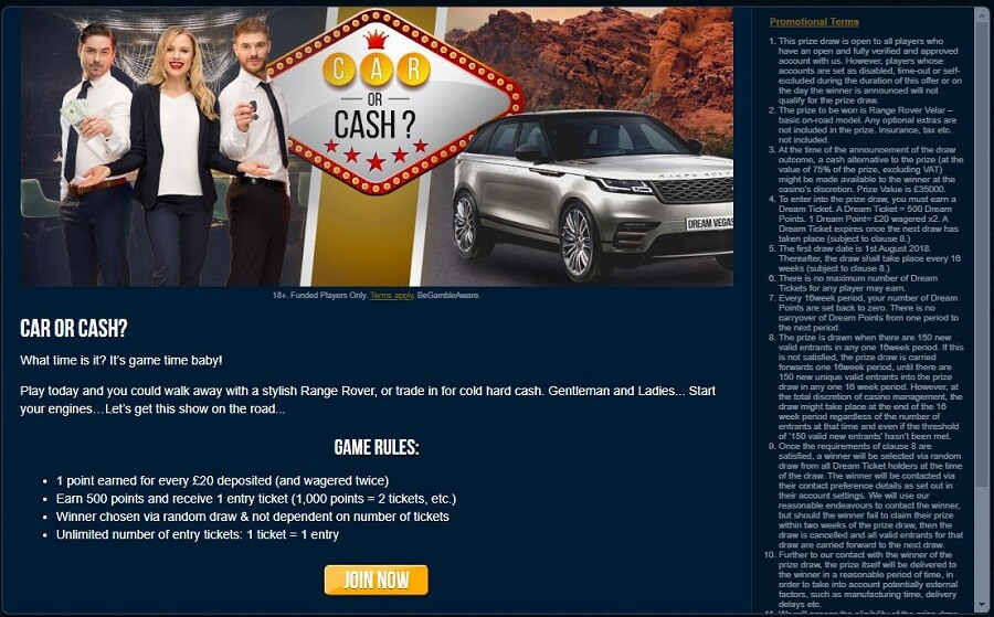 Dream Vegas Promotions