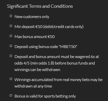 Mansion Bet Welcome Bonus 2
