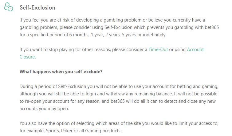 bet365 Exclusion