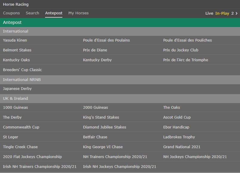 bet365 Horse Racing Antepost