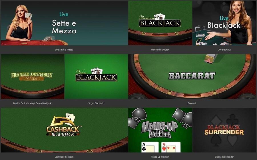 bet365 Online Casino Card Games