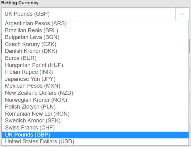bet365 Online Casino Currencies