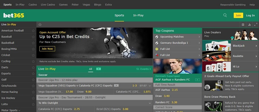 bet365 Sport Registration