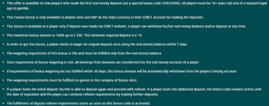 22Bet Welcome Bonus 2