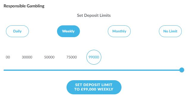 BetVictor Deposit Limits