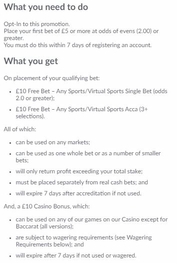 BetVictor Welcome Bonus 2