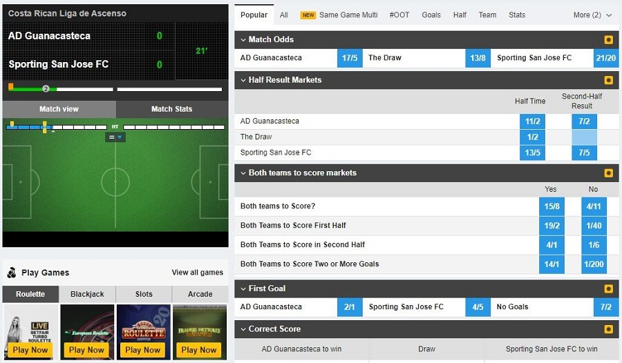 Betfair In Play Betting