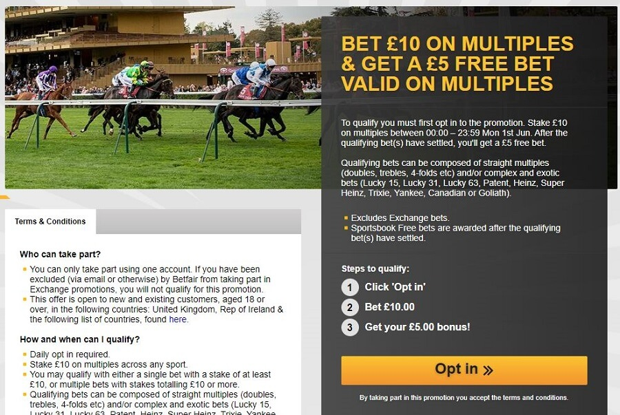 Betfair Promotions 2