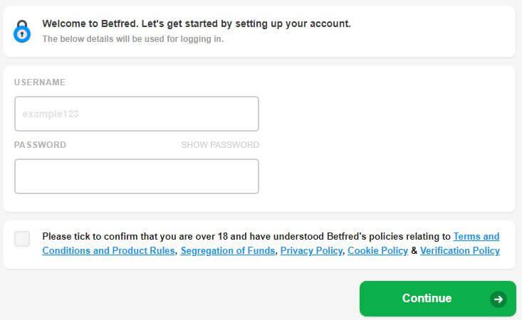 Betfred Registration 2