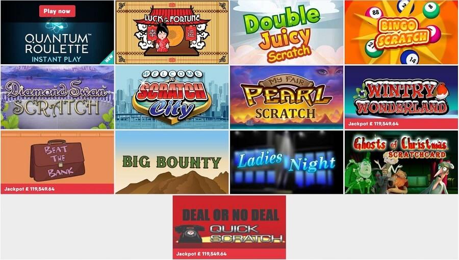 Buzz Bingo Instant Win Games