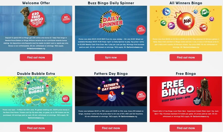 Buzz Bingo Promotions