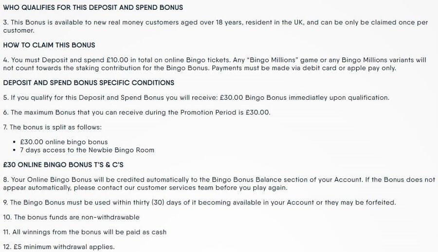 Buzz Bingo Welcome Bonus 2