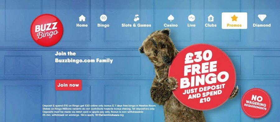 Buzz Bingo Welcome Bonus