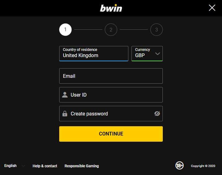 Bwin register 2