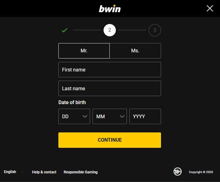 Bwin register 3