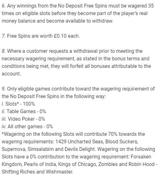 LeoVegas Free Spins Wagering Requirements