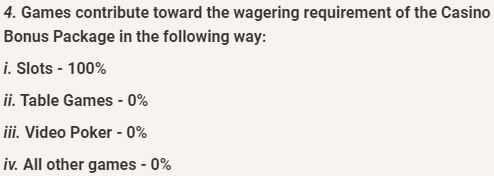 LeoVegas Wagering Contributions