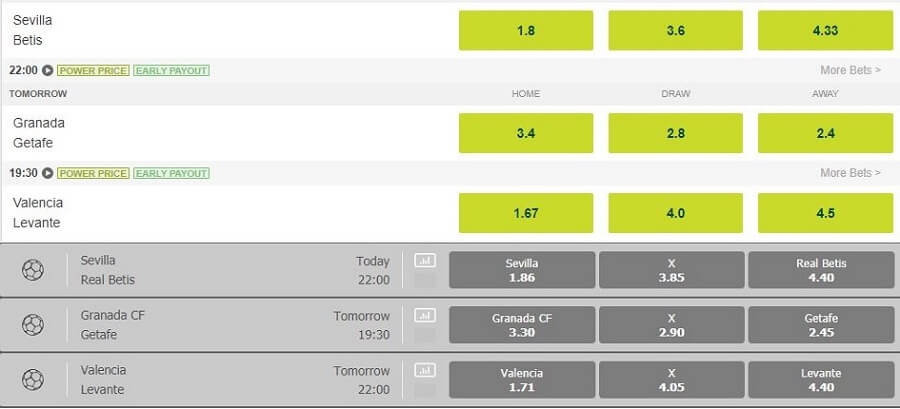 Paddy Power Odds vs Karamba