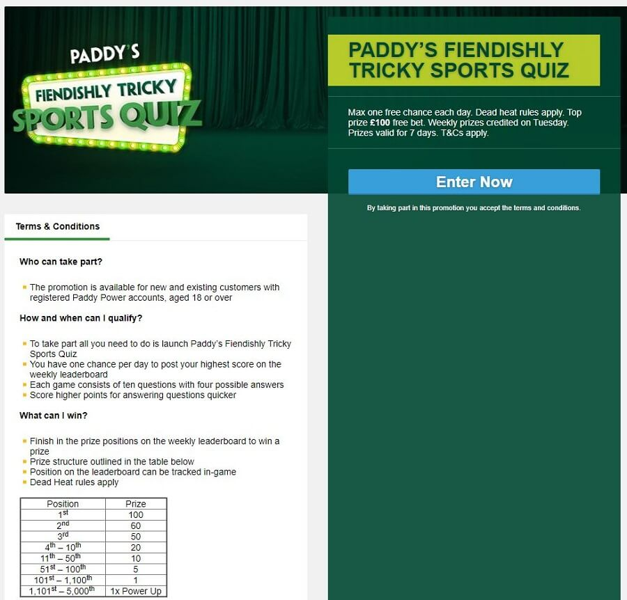 Paddy Power Promotions 2