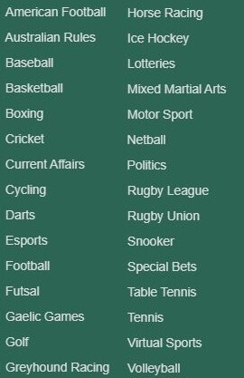 Paddy Power Sports Variety