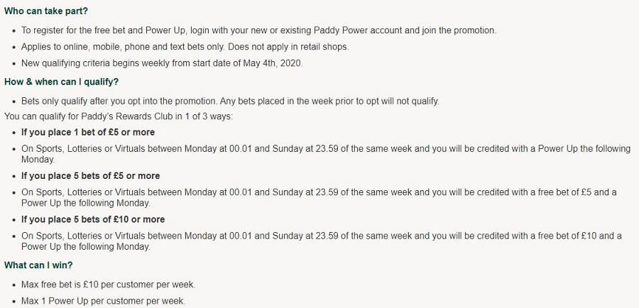 Paddy Power Welcome Bonus 2