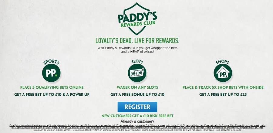 Paddy Power Welcome Bonus