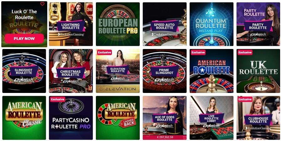 Party Casino Roulette