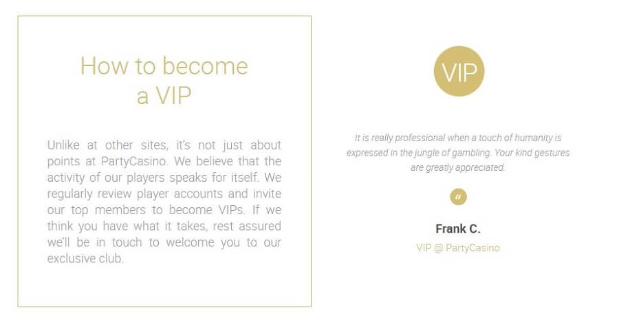 Party Casino VIP Program