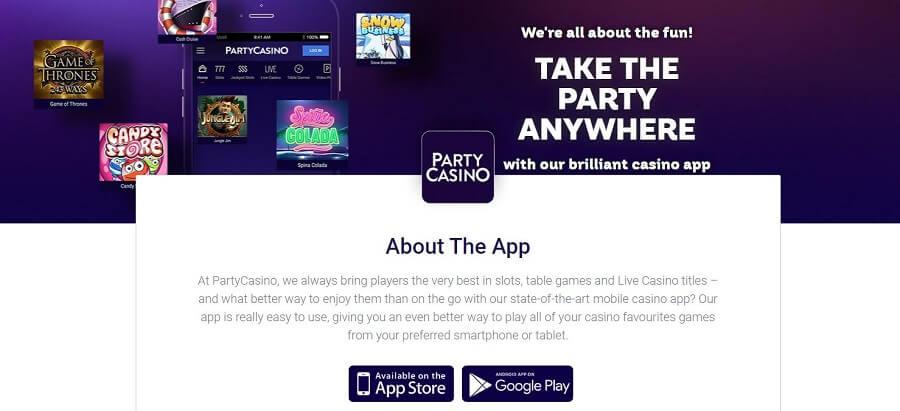PartyCasino Mobile