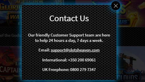 Slots Heaven Contact