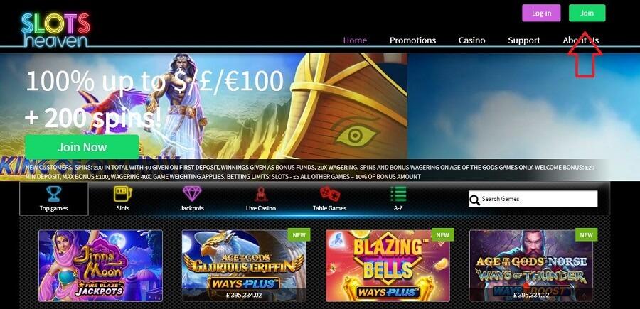 Slots Heaven Registration 1