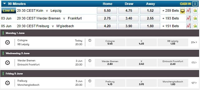 William Hill Odds vs 10Bet
