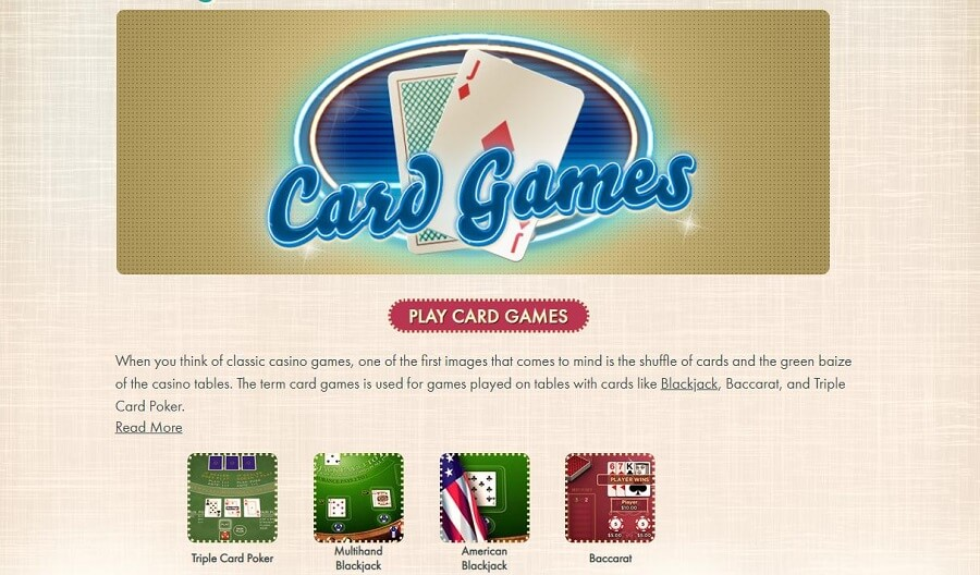 777 Casino Card Games