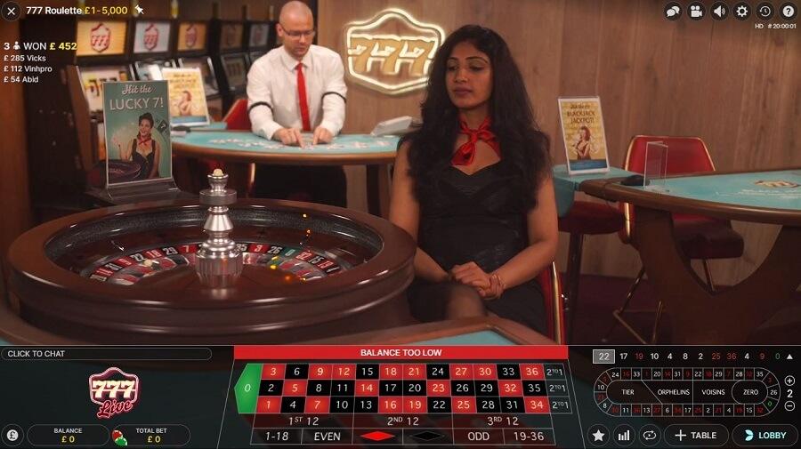 777 Casino Live Casino