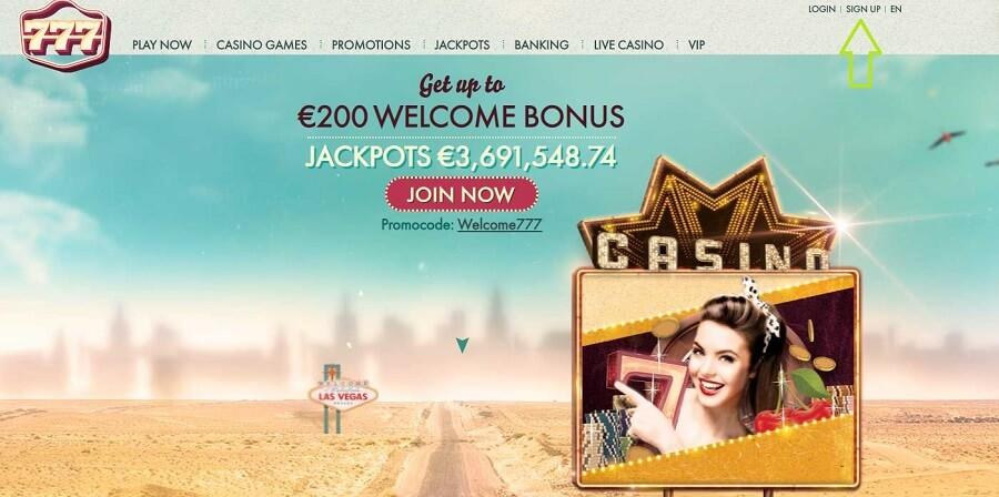 777 Casino Register 1